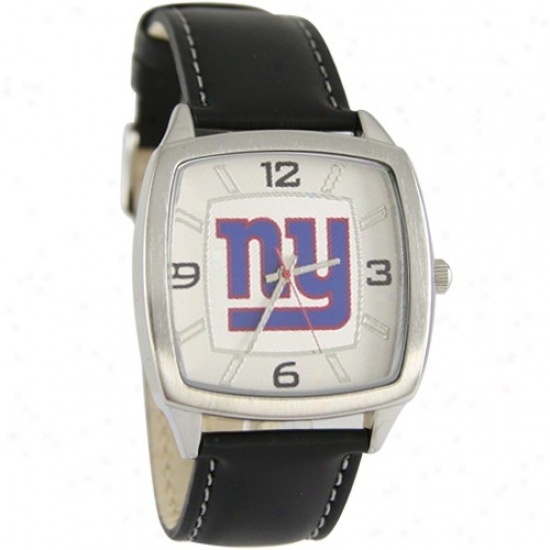 Ny Giants Watches : Ny Giants Retro Watches W/ Leather Band