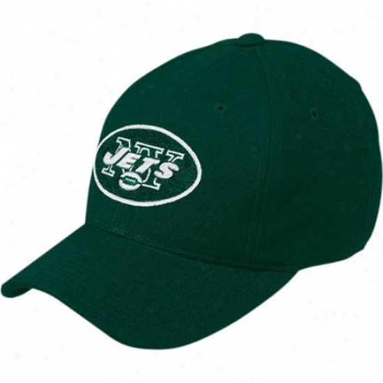 Ny Jet Cap : Reebok Ny Jet Green Basic Logo Wool Blend Cap