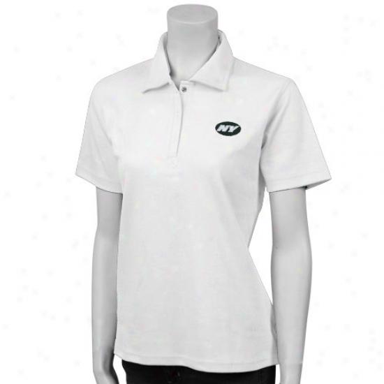 Ny Jet Clothes: Reebok Ny Jet White Ladies Expression Pique Polo