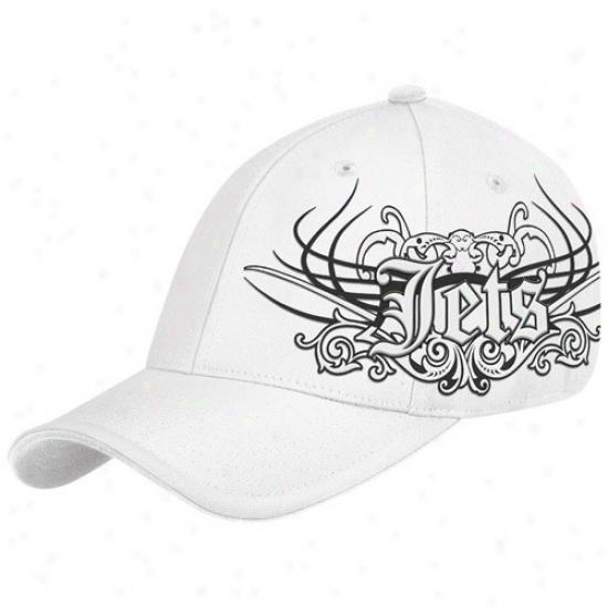 Ny Jet Hat : Reebok Ny Jet White Rebel Flex Fit Hat
