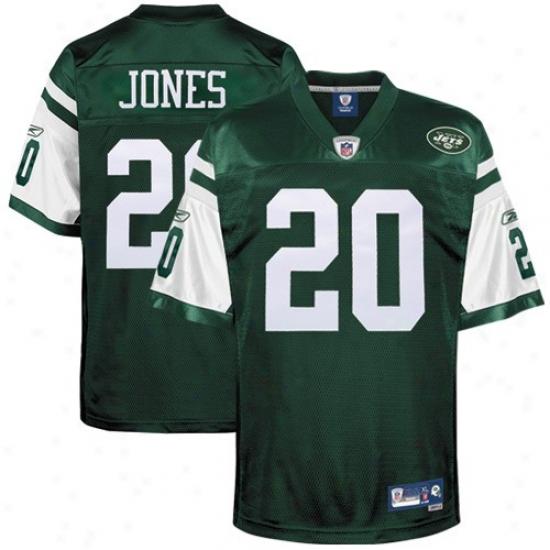 Ny Jet Jerseys : Reebok Nfl Equipment Ny Jet #20 Thomas Jones Green Premier Tackle Twill Football Jsrseys