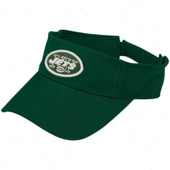 Ny Jet Merchandise: Reebok Ny Jer Green Original Visor