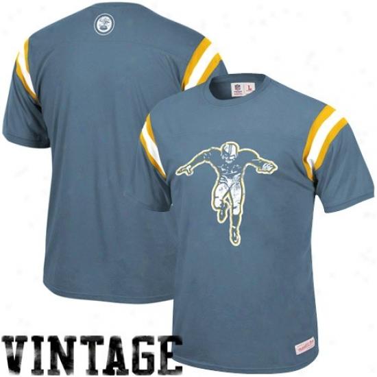 Ny Jet T Shir t: Mitchell & Ness Titans Of New York Light Blue Afl Franchise Premium T Shirt