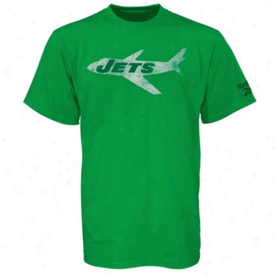 Ny Jet Tshirt : Reebok Ny Jet New Retro Loto Tshirt