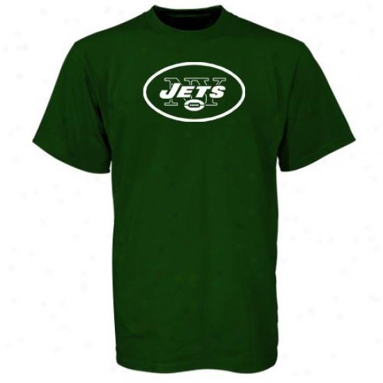Ny Jet Tshirt : Reebok Ny Jet Green Youth Primary Logo Tshirt