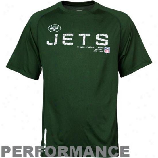 Ny Jet Tshirts : Reebok Ny Jet Green Sideline Speedwick Performance Heathered Tshirts