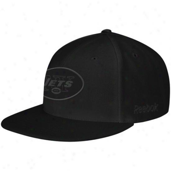 Ny Jets Caps : Reebok Ny Jets Black Fashion Fitted Caps
