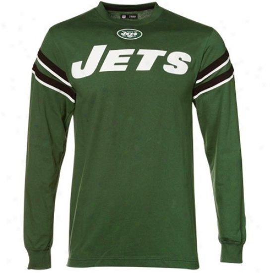Ny Jets T Shirt : Ny Jets Green End Of The Line Long Sleeve T Shirt