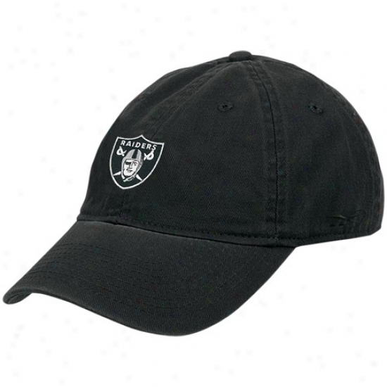 Oakland Raider Caps : Reebkk Oakland Raider Black Ladies Basic Slouch Caps
