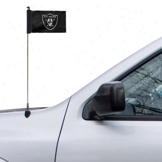 Oakland Raider Flags : Oakland Raider Black Antenna Flags