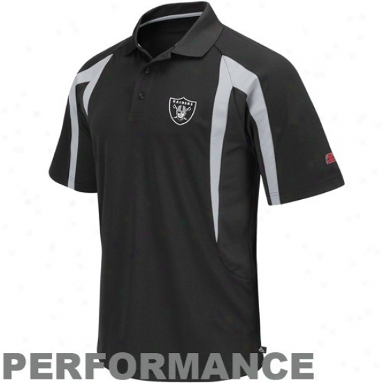 Oakland Raider Golf Shirts : Oakland Raider Black Field Classic Iii Performance Golf Shirts
