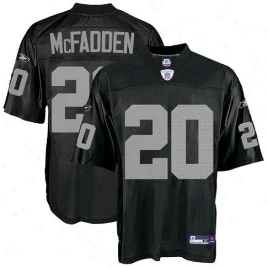 Oakland Raider Jersey : Reebok Nfl Equipment Oakland Raider #20 Darren Mcfadden Youth Black Replica Football Jersey