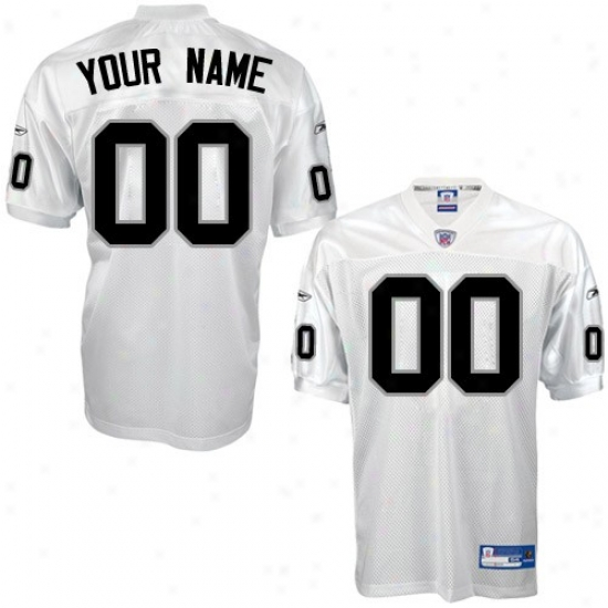 Oakland Raider Jersey : Reebok Nfl Equipment Oakland Rzider White Authentic Customized Jersey