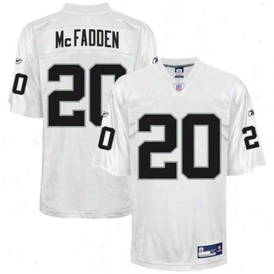 Oakland Raider Jersey : Reebok Nl Equipment Oakland Raider #20 Darren Mcfadden Youth White Re0lica Football Jersey