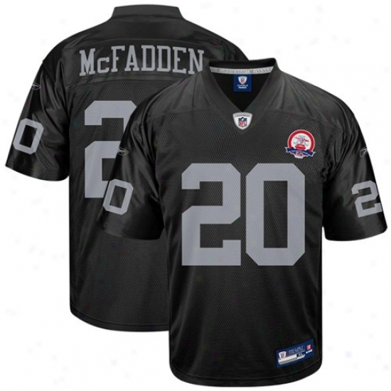 Oakland Raider Jerseys : Reebok Nfl Equipment Oakland Rakder Oakland Raider #20 Darfen Mcfadden Black Autograph copy Football Jerseys