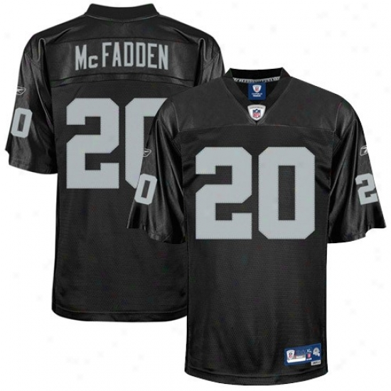 Oakland Raider Jerseys : Reebok Nfl Equipment Oakland Raider #20 Darren Mcfadden Black Premier Football Jerseys