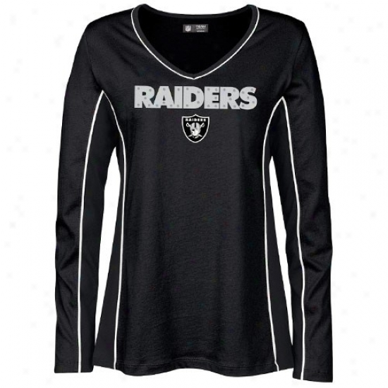 Oakland Raider Shirts : Oakland Raider Ladies Negro Prized Possession Long Sleeve Shirts