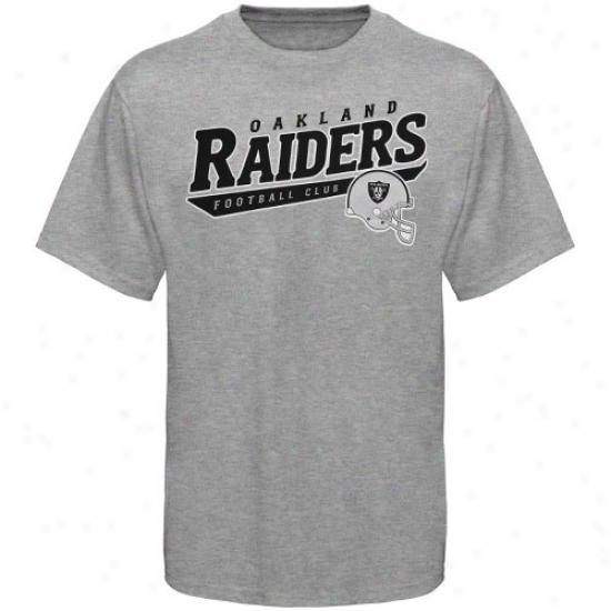 Oakland Raoder Shirts : Reeok Oakland Raider Ash The Call Is Tails Shirts