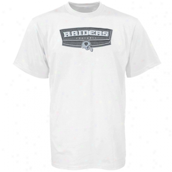 Oakland Raider Shirts : Reebok Oakland Raider White Block Party Shirts