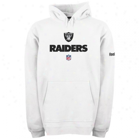 Oakland Raider Sweat Shirt : Reebok Oakland Raider White Team Lock Up Labor Shirt
