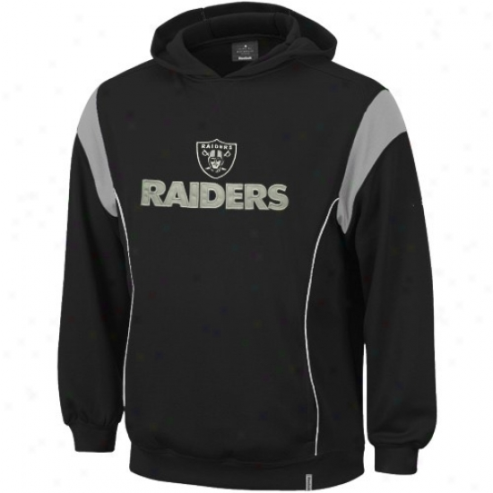 Oakland Raider Sweatshirt:  Reebok Oakland Raider Dark Showboat Sweatshirt