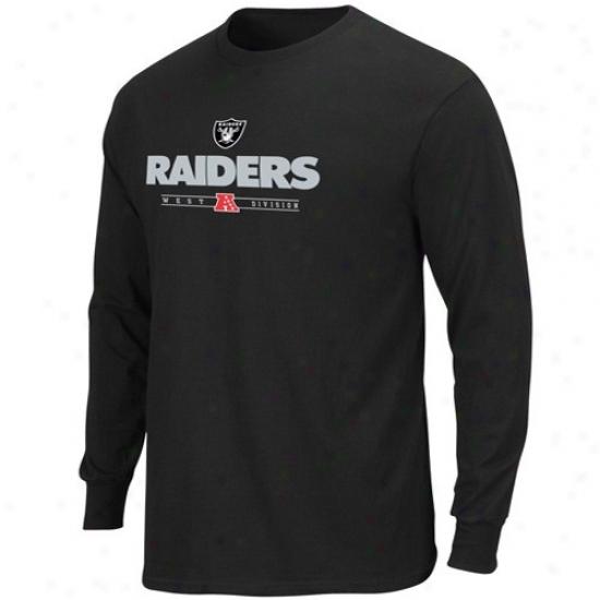 Oakland Raider T Shirt : Oakland Raider Black Critical Victory Iv Long Sleeve T Shirt