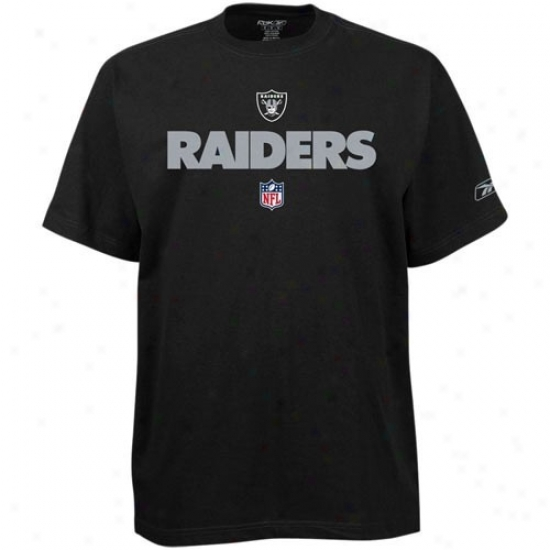 Oakland Raider T Shirt : Reebok Oakland Raider Youth Black Team Marks T Shirt