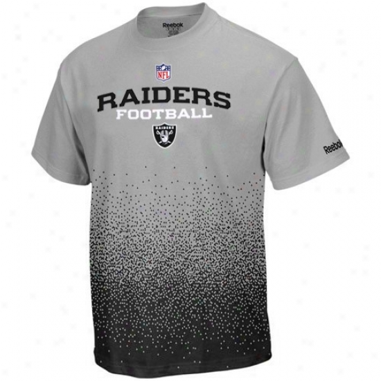 Oakland Raider Tees : Reebok Oaklanc Raider Youth Gray Drift Sideline Tees