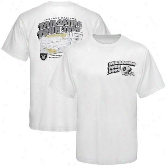 Oakland Raider Tshirts : Reebok Oakland Raider White Roadtrip Tshirts