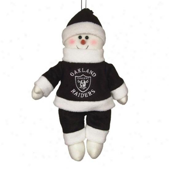 Oakland Raiders 10-inch Snowflake Friend Plish