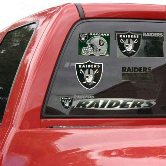Oakland Raiders 11'' X 17'' Window Clings Sheet