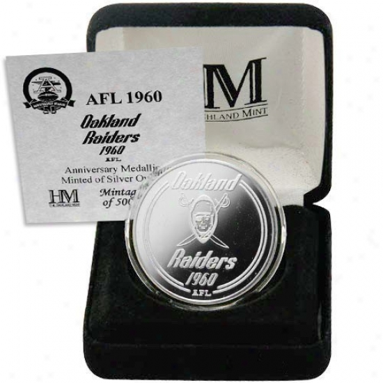 Oakland Raiders 2009 Inaugural Season Silver Commemorative Coin