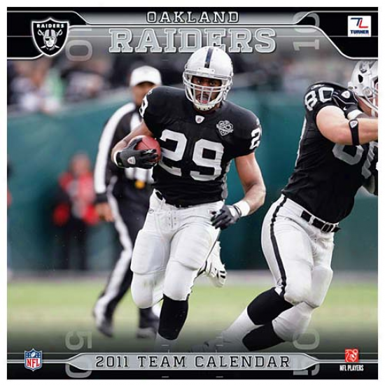 Oakland Raiders 2011 Wall Calenndar