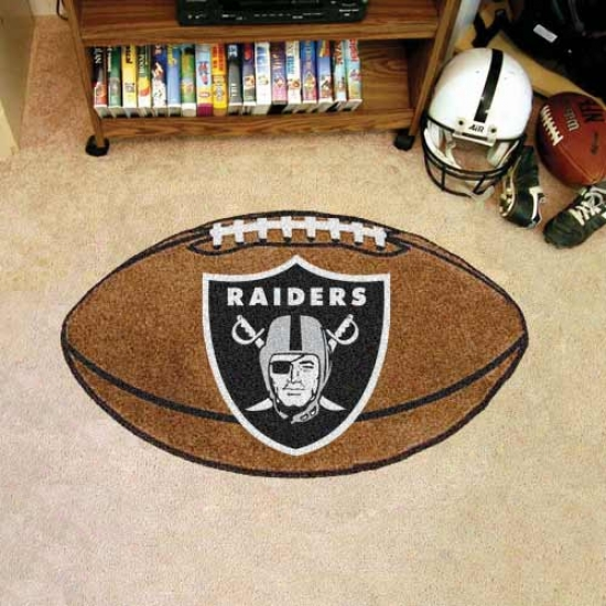 """oakland Raiders 22""""x35"""" Footbll Mat"""