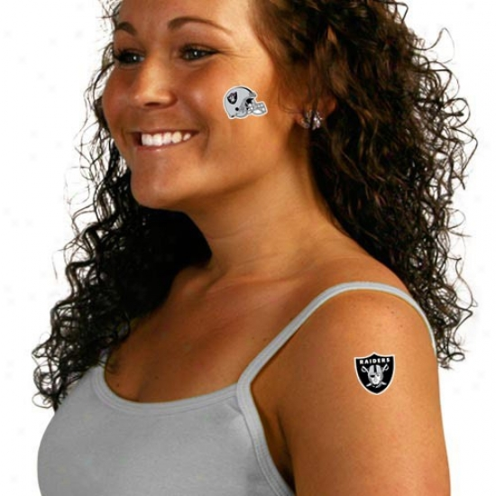 Oakland Raiders 8-pack Waterless Temporary Tattoos