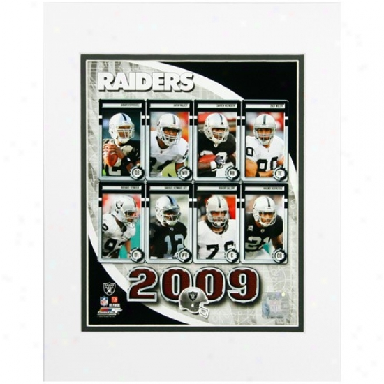 Oakland Raiders 8'' X 10'' 2009 Team Composite Matted Photograph