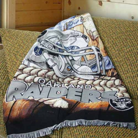 Oakland Raiders Acrylic Tapestry Throw Blanket