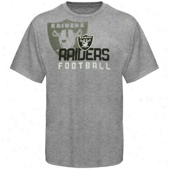Oakland Raiders Clothes: Reebok Oakland Raiders Youth Ash Pointillism T-shirt