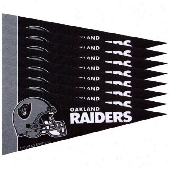 Oakland Raiders Black 8-pack Mini Pennant Set
