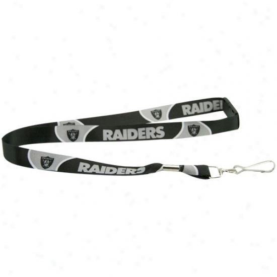 Oakland Raiders Black Event Lanyard