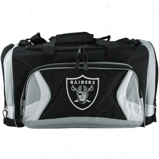 Oakland Raiders Negro Fly-by Duffel Bag
