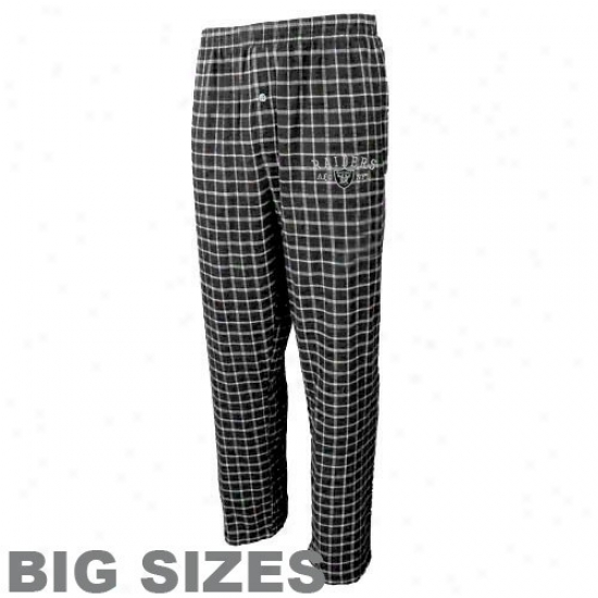 Oakland Raiders Black Gqmeplay Haughty Sizes Flannel Pants
