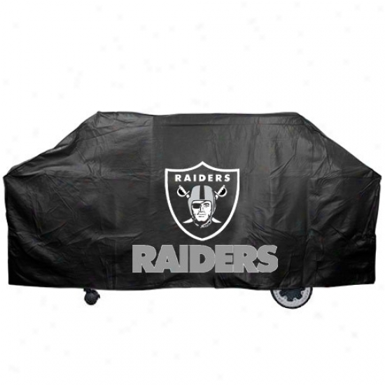 Oakland Raiders Black Grill Cover