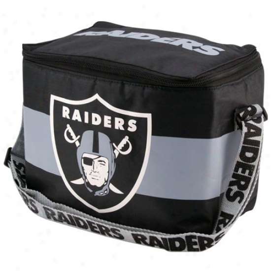 Oakland Raiders Black Insulated 12 Pack Cooler
