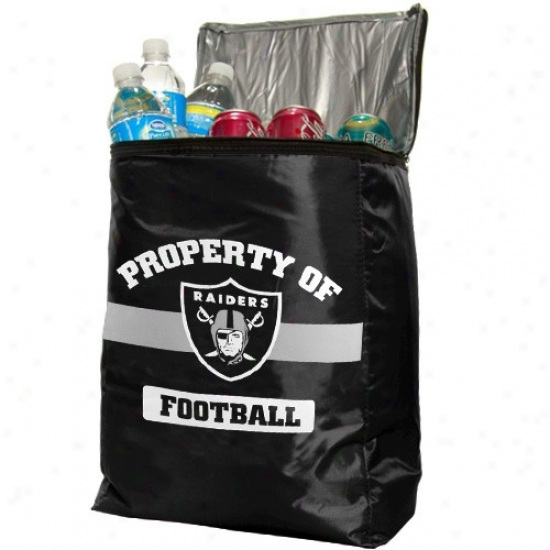 Oakland Raiders Black Insulated Cooler Backpack