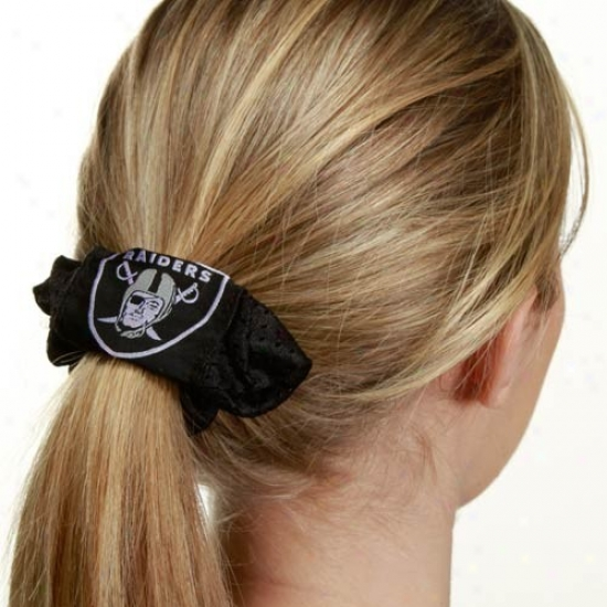 Oakland Raiders Black Mesh Hair Twist
