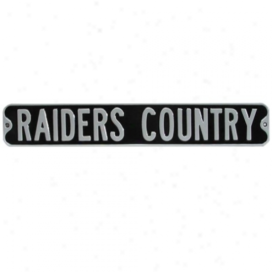 Oakland Raiders Dark Steel Street Sign