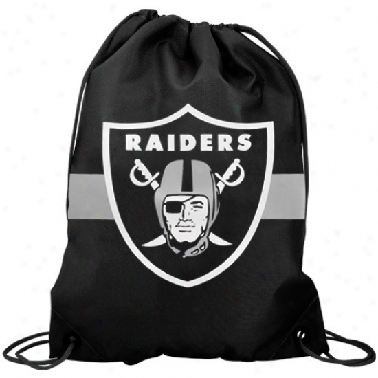 Oakland Raiders Black Team Logo Drawstring Backpack