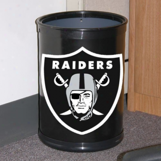 Oalkand Raiders Black Team Wastebasket