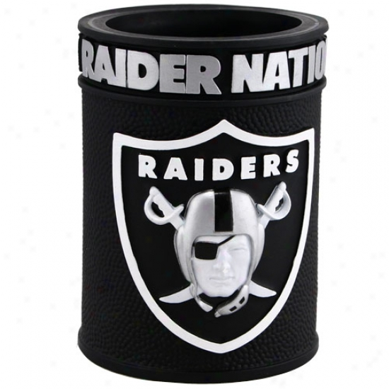 Oakland Raiders Embossed Plastic Can Coozie